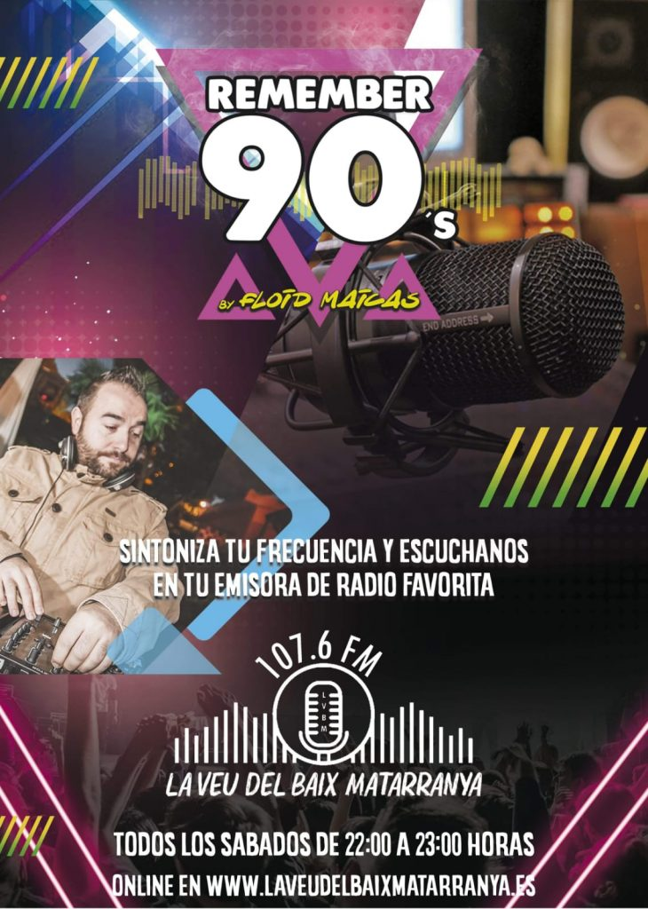 Cartel programa remember 90s DJ Floid Maicas